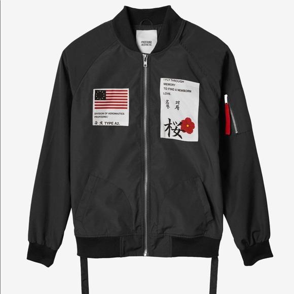 efc5e3aac4d PROFOUND AESTHETIC Jackets & Coats | Aeronautics Nylon Bomber Jacket ...